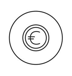 money sign coin euro vector image vector image