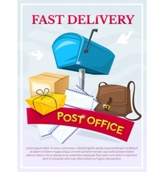 Post office concept design vector image
