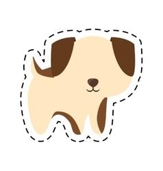 puppy adorable pedigree cut line vector image