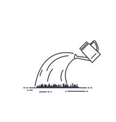 watering can line vector image