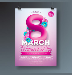 womens day party flyer with abstract vector image