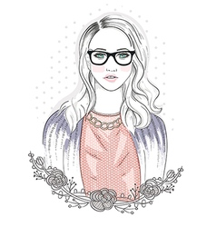 Young fashion girl vector image