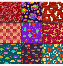 asian pattern seamless asia background and vector image