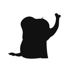 Baby elephant cartoon vector image vector image