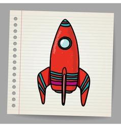 Cartoon space rocket vector image vector image