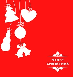 christmas baubles red vector image vector image