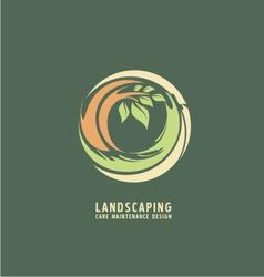 Landscaping logo design concept vector image