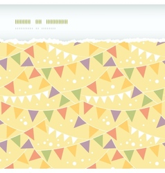 Party Decorations Bunting Horizontal Torn Seamless vector image vector image