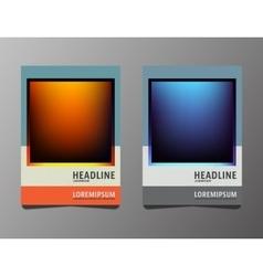 Set brochures template vector image