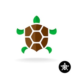 Turtle logo with shield shaped shell vector image