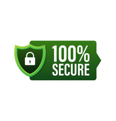 100 secure grunge icon badge or button for vector image