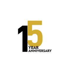 15 year anniversary template design vector