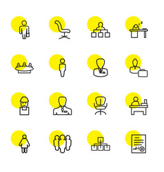 16 manager icons vector image