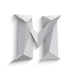 3d letter M on white vector image
