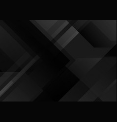 Abstract black tech geometric background vector