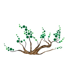 Abstract of Isometric Green Tree and Plant vector