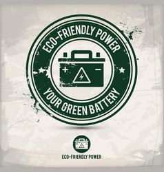alternative eco friendly power stamp vector image