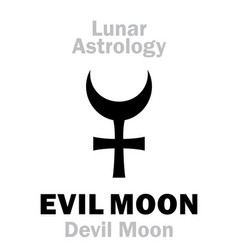 Astrology evil moon devil moon vector