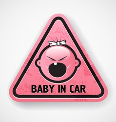 Baby in car vector