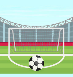 background of football stadium flat design vector image