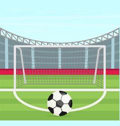 background of football stadium flat design vector image