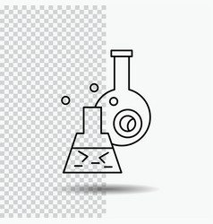 beaker lab test tube scientific line icon on vector image