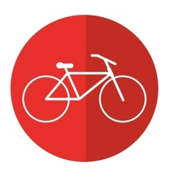 Bicycle transport active sport red circle vector