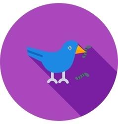 Bird Eating Worm vector