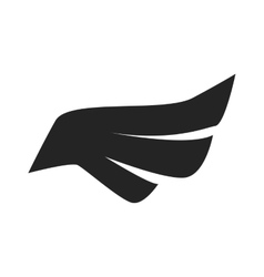 Black bird wings on white background vector