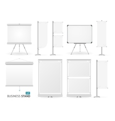 Blank Business Stand Set vector image vector image