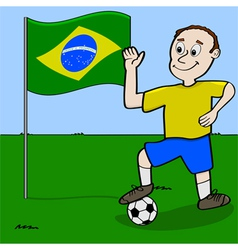 Brazil soccer player vector image vector image