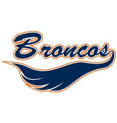 Broncos logo vector
