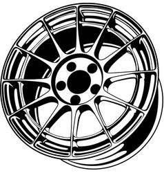 Car wheel 4 vector