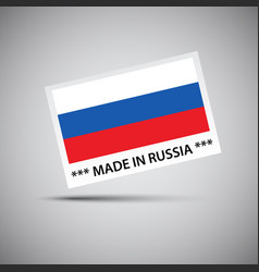 Card made in russia with russian flag vector