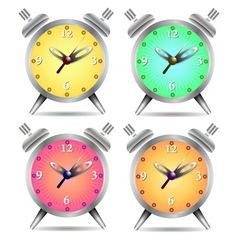 Colorful alarm clock vector