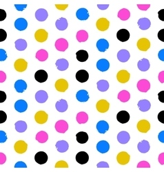 Colorful polka dots vector