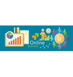 Concept of online business vector