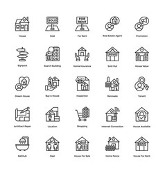 Creative icons real estate vector