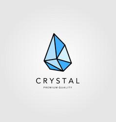 Crystal gems diamond line art jewelry logo vector