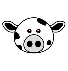 cute cow face cute animal faces vector image