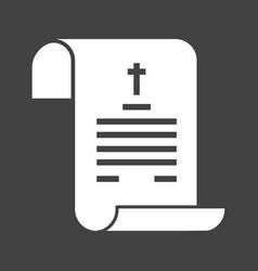 Death certificate vector