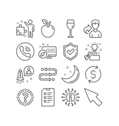 Dollar exchange mouse cursor and headhunter icons vector