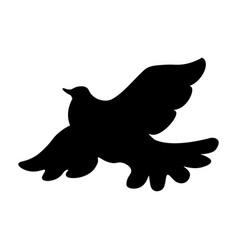 dove icon sign silhouette isolated on white vector image