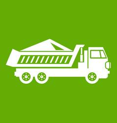 dump track icon green vector image vector image