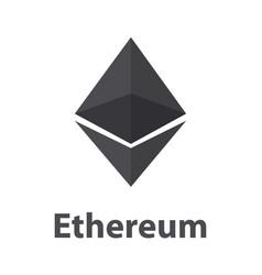 ethereum black symbol chrystal vector image