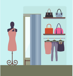 female clothing shop design vector image