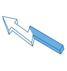 Financial arrow growth progress success image vector