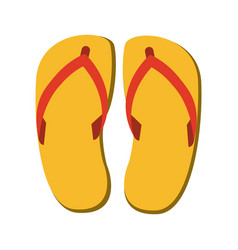 Flip flop sandals icon image vector