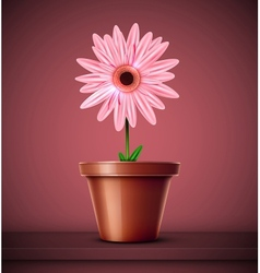 Flower in pot vector