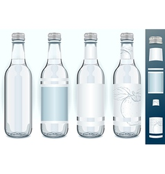 Four Glass Bottles with Generic Labels vector